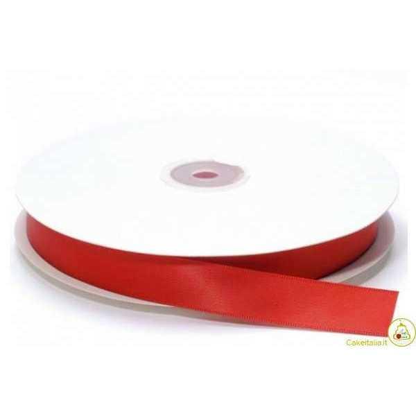 Nastro in raso rosso laurea larghezza 20mmx30m