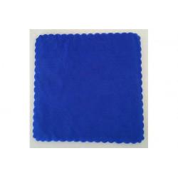 Velo Tulle Orlato Quadrato Blu 50pz