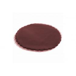 Velo Tulle Orlato Bordeaux 50pz