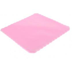 Velo Tulle Orlato Quadrato Rosa 50pz