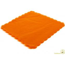Velo Tulle Orlato Quadrato Arancione 50pz