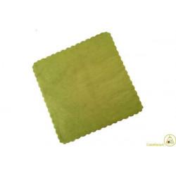 Velo Tulle Orlato Quadrato Verde 50pz