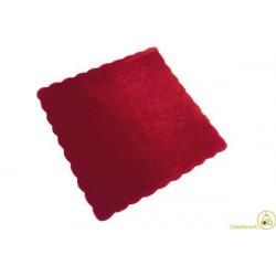 Velo Tulle Orlato Quadrato Rosso 50pz