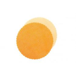Velo Tulle Orlato Pois 50pz Arancione