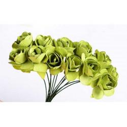 Fiore in carta cm 1 pz 12 colore verde