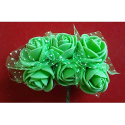 Rosa Spugna Inserti pois cm 2 pz 6 Verde