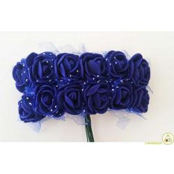 Rosa in spugna con inserti pois cm 2 pz 12 colore Viola