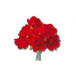 Rosa in carta colore Rosso 6 pz cm 3