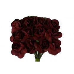 Fiore in carta cm 1 pz 12 colore bordeaux
