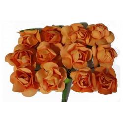 Fiore in carta cm 1 pz 12 colore arancio