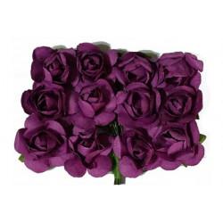 Fiore in carta cm 1 pz 12 colore viola