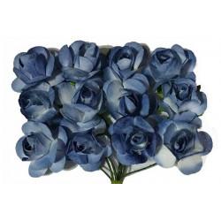 Fiore in carta cm 1 pz 12 colore celeste