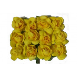 Fiore in carta cm 1 pz 12 colore giallo