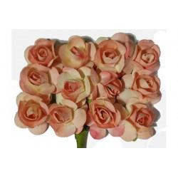 Fiore in carta cm 1 pz 12 colore pesca