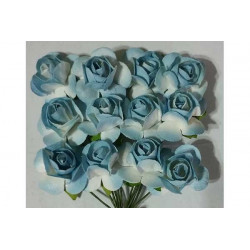 Fiore in carta cm 1 pz 12 colore azzurro
