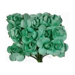 Fiore in carta cm 1 pz 12 colore verde tiffany
