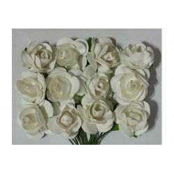 Fiore in carta cm 1 pz 12 colore bianco