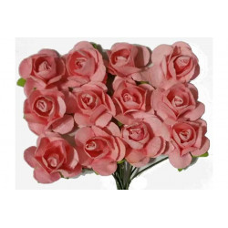 Fiore in carta cm 1 pz 12 colore rosa