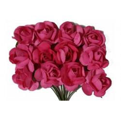 Fiore in carta cm 1 pz 12 colore fucsia