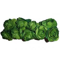 Rosa in carta cm 2 pz 10 colore verde