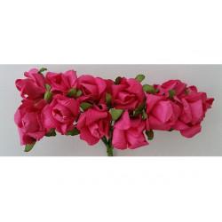 Rosa in carta cm 2 pz 10 colore fucsia