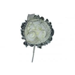 Bomboniera bouquet rose con 5 petali portaconfetti colore Avorio
