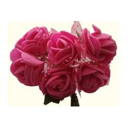 Rosa in spugna con inserti pois cm 2 pz 6 colore rosa