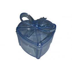 Scatola Regalo Cuore con fiocco Azzurro in plexiglas 7cm