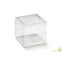 Scatola Cubo trasparente in PVC 9x9x9cm 24pz