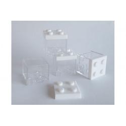 Portaconfetti mattoncino Lego Bianco 5cm