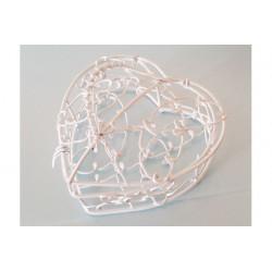 Scatolina scrigno in metallo smaltato a forma cuore