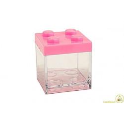 Portaconfetti mattoncino Lego Rosa 5x5x5cm
