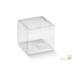 Scatola Cubo portaconfetti trasparente in PVC 5x5x5cm 24pz