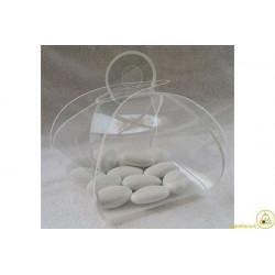Scatola Tortina decorata Bianco in PVC 14x8x8cm 24pz