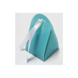 Scatola Triangolare portaconfetti traslucido Celeste in PVC 5x5x5cm 4pz