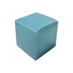 Scatola Cubo portaconfetti traslucido Celeste in PVC 5x5x5cm 4pz