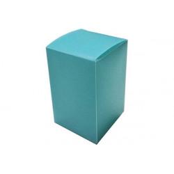 Scatola Quadrata portaconfetti traslucido Celeste in PVC 5x5x8cm 4pz