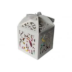 Scatola portaconfetti in cartoncino perlato matrimonio
