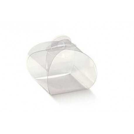 Scatola Tortina trasparente in PVC 5x5x9cm 12pz