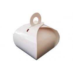 Scatolina portaconfetti in cartoncino tortina 6x6x11cm 12pz