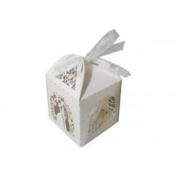 Scatolina portaconfetti in cartoncino perlato matrimonio 5