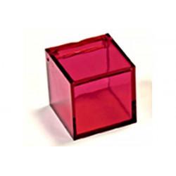 Scatola Cubo portaconfetti Rosso Trasparente in plexiglas 5x5x5cm