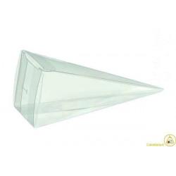 """Cono portaconfetti portariso trasparente in PVC """"Cono Piramide"""" 5x5x16cm 12pz"""