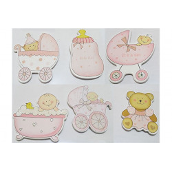 Set Placche decorativa bimba Rosa pz6