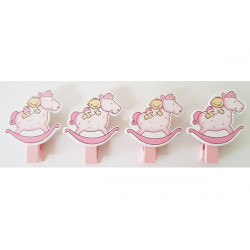 Set Mollettina decorativa Dondolo bimba Rosa pz4