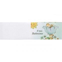 5 bigliettini per bomboniere stampabili Il mio battesimo Tema celeste