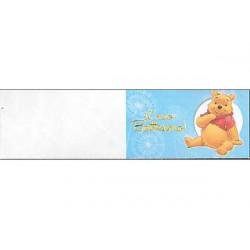 5 bigliettini per bomboniere stampabili Il mio battesimo Tema Winnie the pooh Celeste