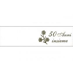 5 bigliettini per bomboniere stampabili 50 anni Nozze d'oro