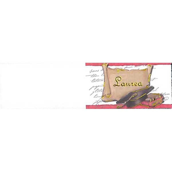 5 bigliettini per bomboniere stampabili Laurea Tema Pergamena con Tomo