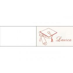 5 bigliettini per bomboniere stampabili Laurea Tema Tocco Rosso